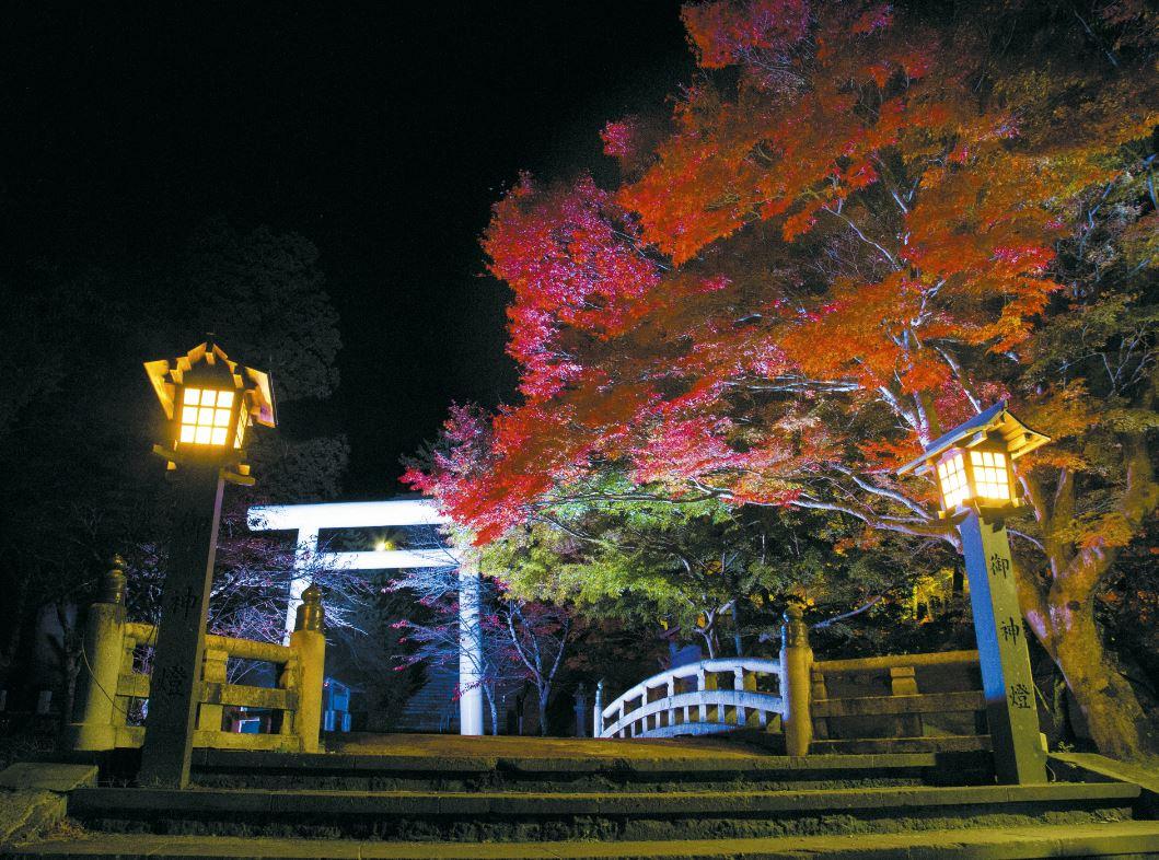「土津神社紅葉ライトアップ2019」~11/17まで