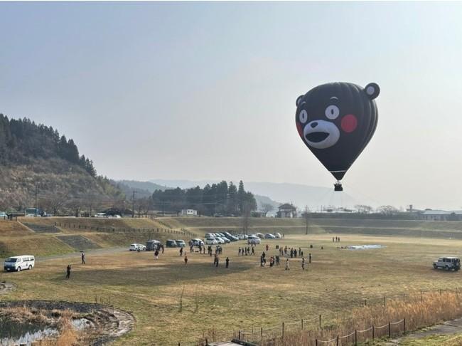 6/6くまモンの気球搭乗体験inグランデコ
